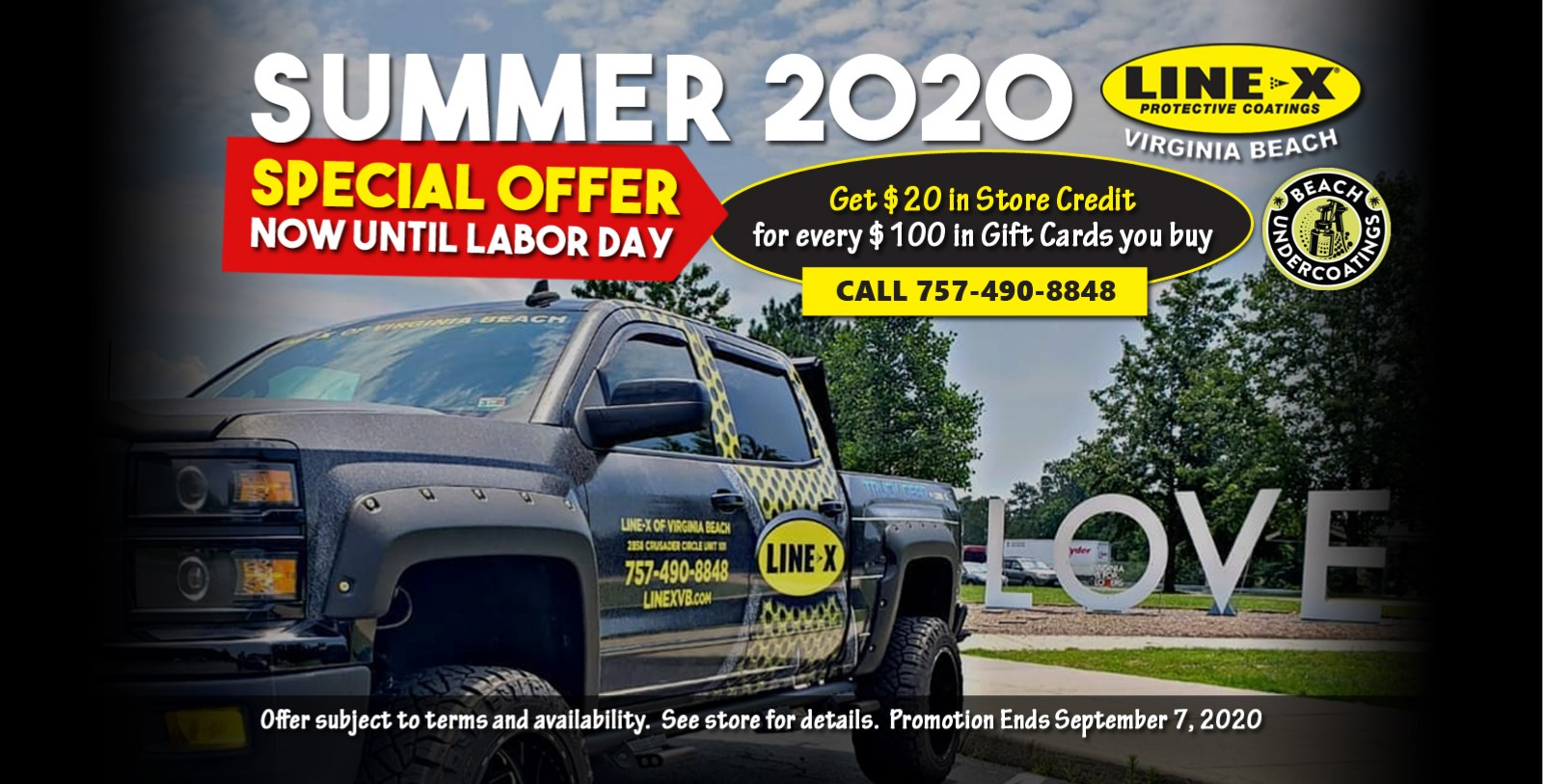 Summer 2020 Special Offer - Get $20 in store credits for every $100 in gift cards you buy between now and Labor Day