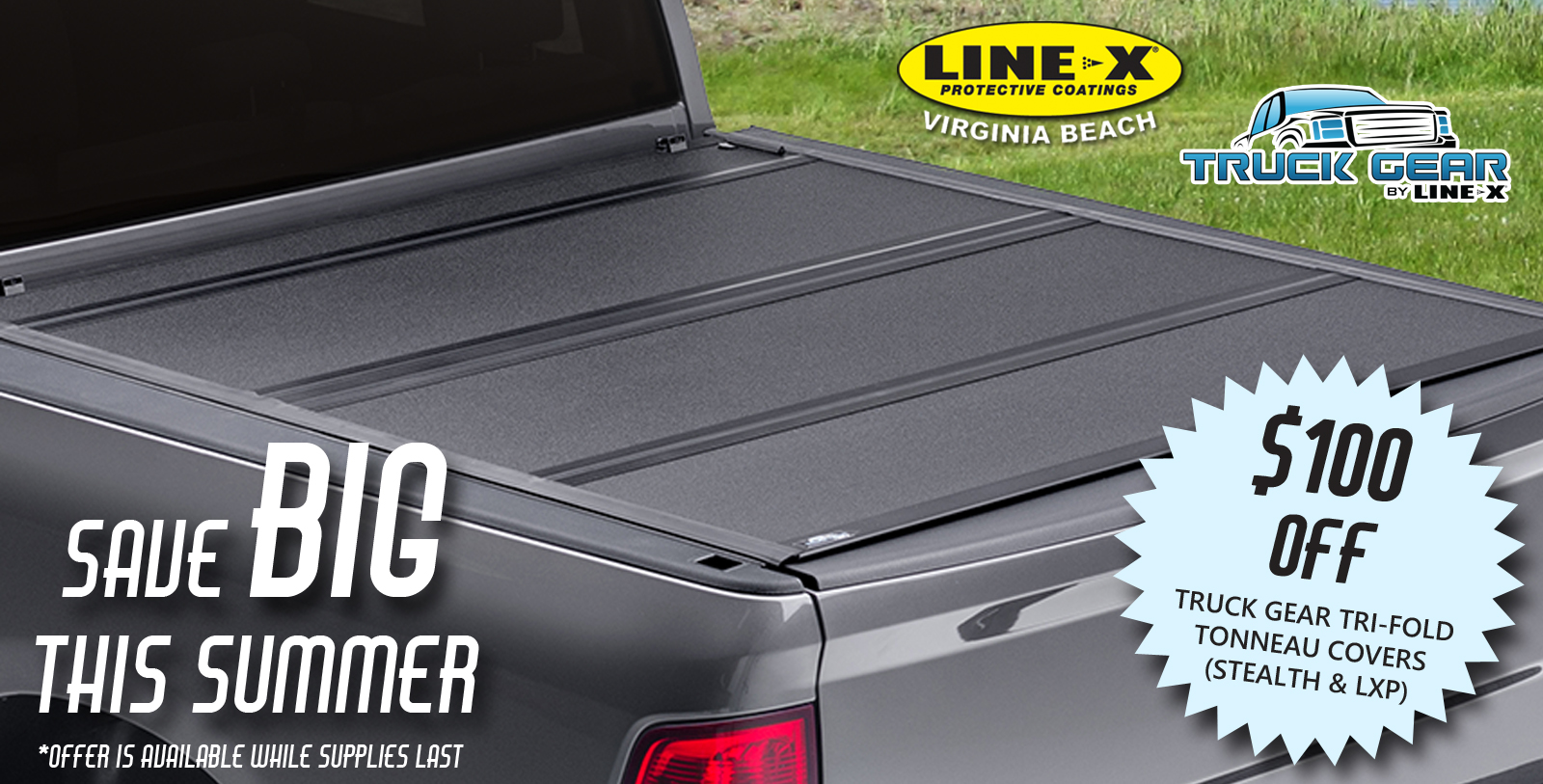 Save BIG this Summer on Truck Gear Tri-Fold Tonneau Covers!