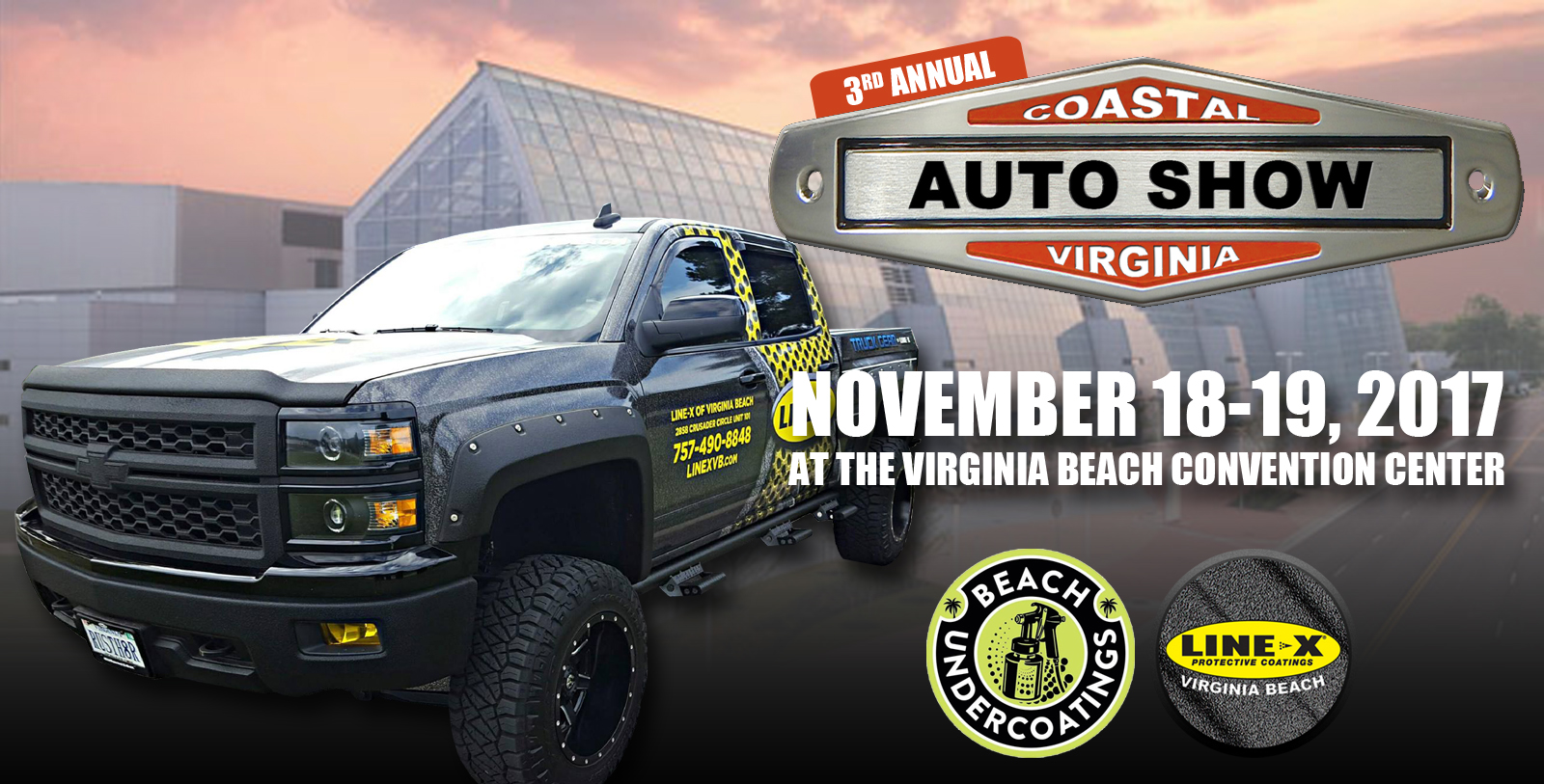 3rd Annual Coastal Virginia Auto Show November 18-19, 2017